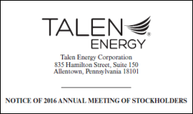 Talen Energy 2015 Proxy Statement