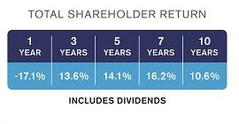 how to calculate companie total shareholder return